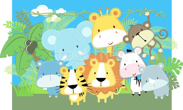 600x361 Jungle Baby Animals Vector Illustration Sergio Hayashi (Hayaship
