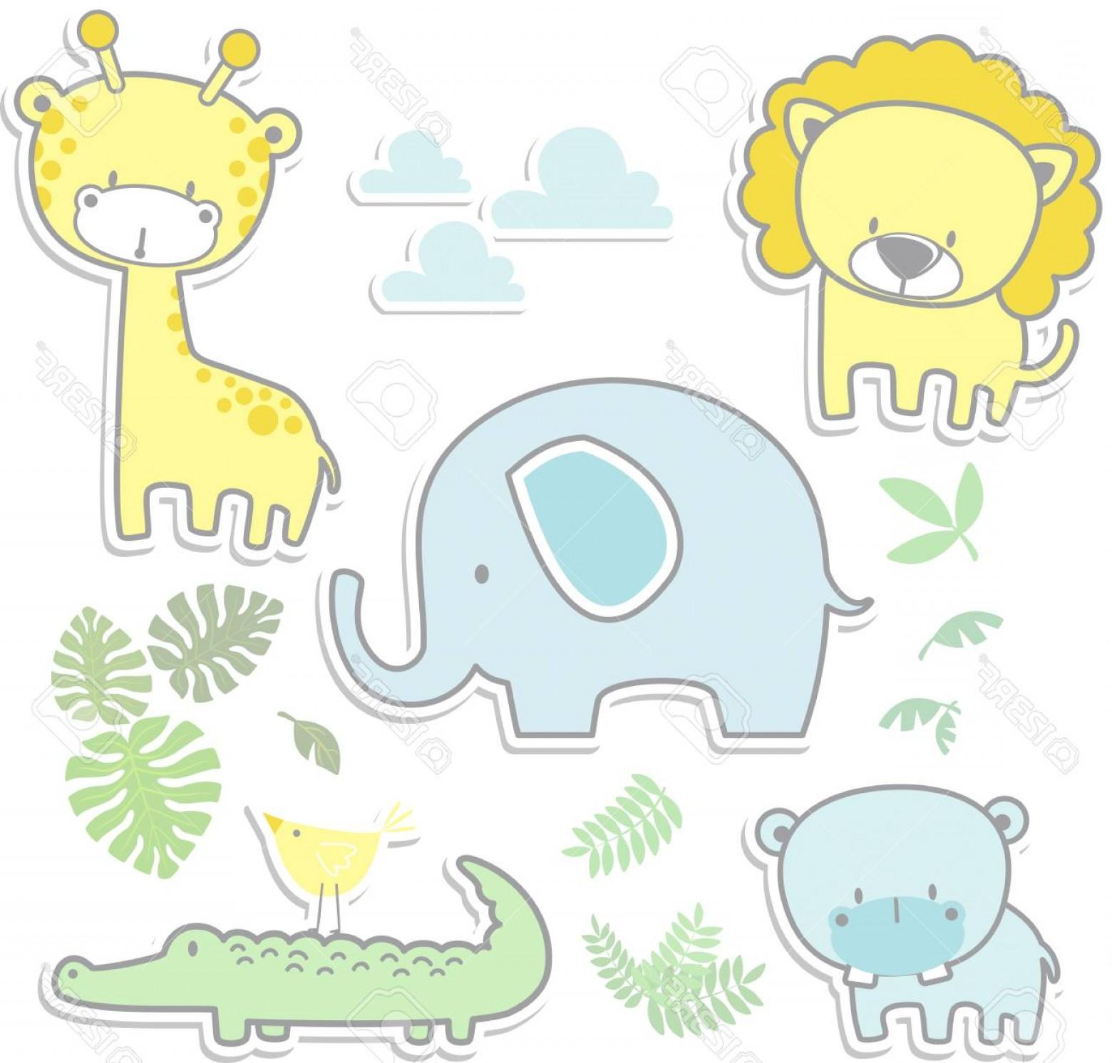 1560x1492 Baby Jungle Animals Vector Arenawp