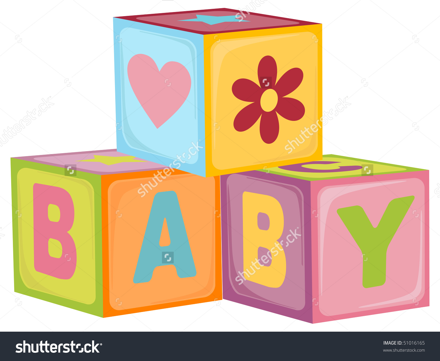1500x1230 Baby Building Blocks Graphic Royalty Free