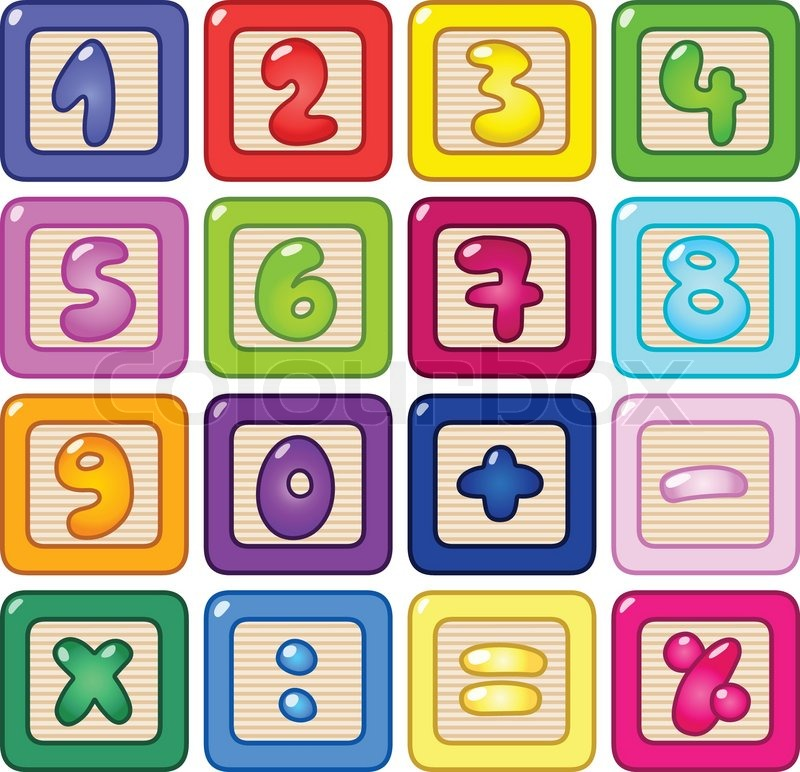 800x772 Colorful Number Blocks Stock Vector Colourbox