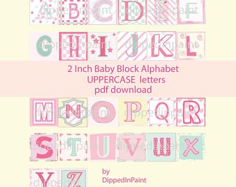 340x270 Pdf Vectors 1 Baby Block Letters Vector Layered Etsy