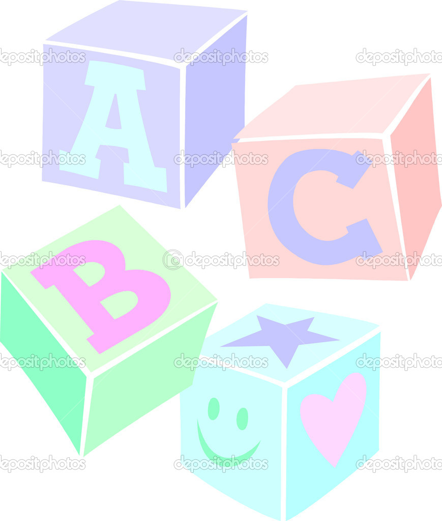 869x1023 Pastel Clipart Baby Block
