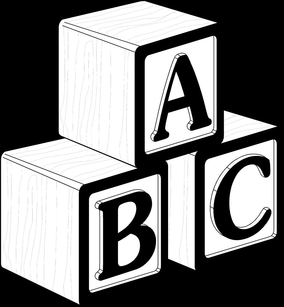 958x1036 19 Baby Blocks Image Library Stock Black And White Huge Freebie