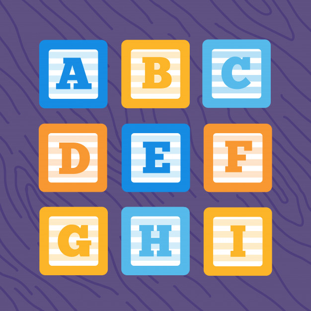 626x626 Set Of Flat Vector Alphabet Baby Blocks Vector Premium Download