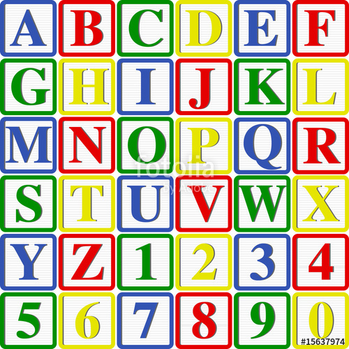 500x500 Baby Blocks Vector Illustration (Can Be Used To Build Words