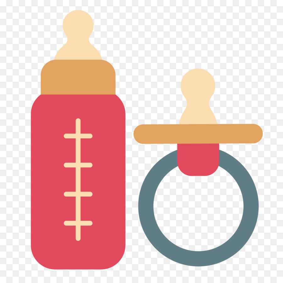 900x900 Baby Bottles Pacifier Flat Design
