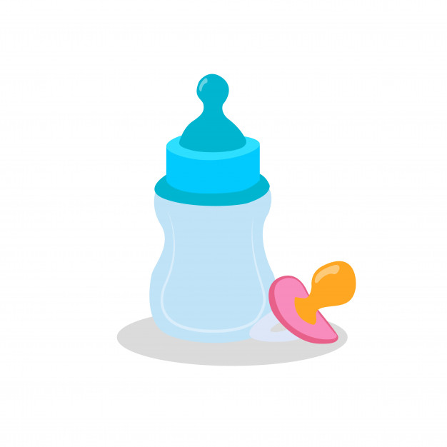 626x626 Baby Bottle Vector Premium Download