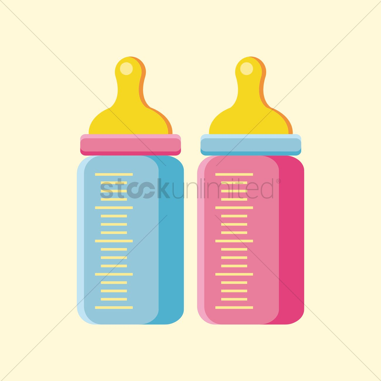 1300x1300 Baby Bottle Vector Image