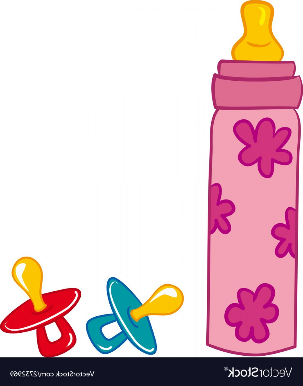 1017x1296 Baby Bottle And Pacifier Vector Arenawp