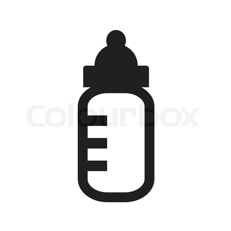 800x800 Baby Milk Bottle Icon Stock Vector Colourbox