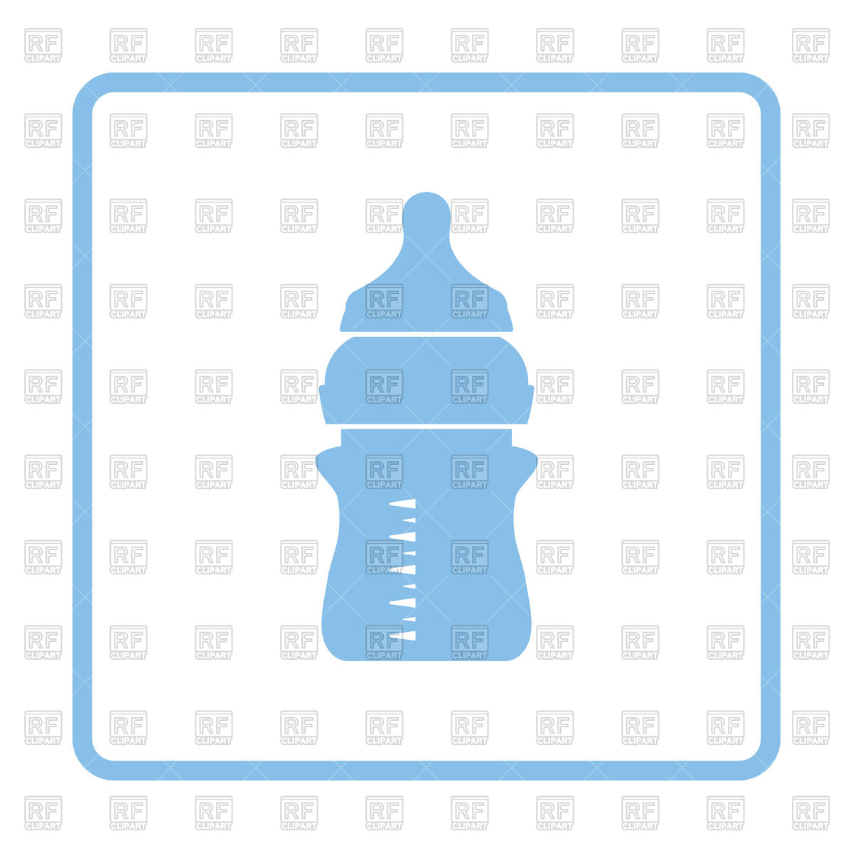1200x1200 Blue Frame Design Of Baby Bottle Icon Vector Image Vector