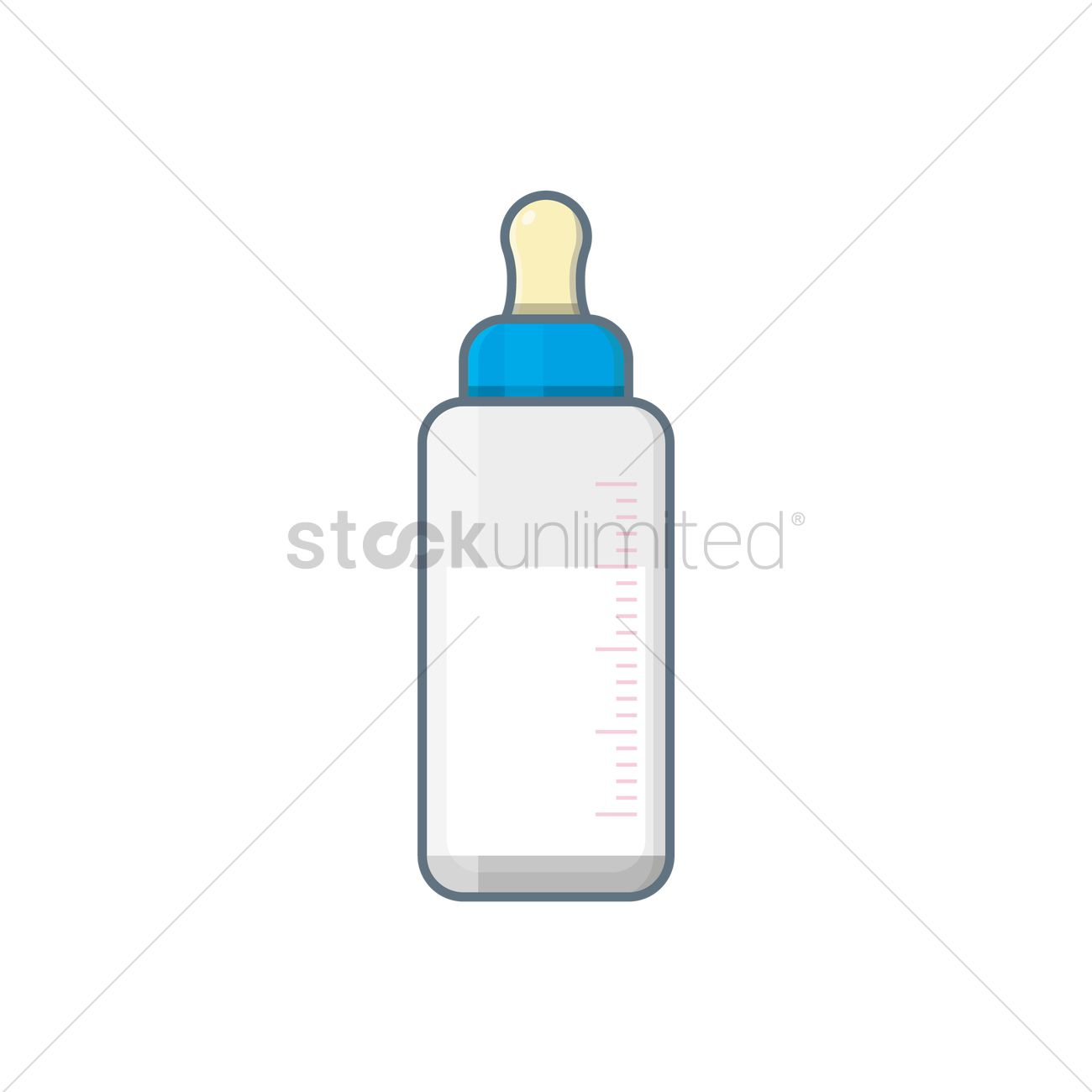 1300x1300 Free Baby Bottle Vector Image