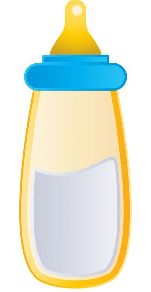 311x600 Vector Image Of A Baby Bottle.
