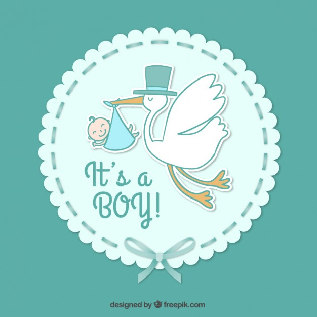 626x626 Baby Boy Card Vector Free Download