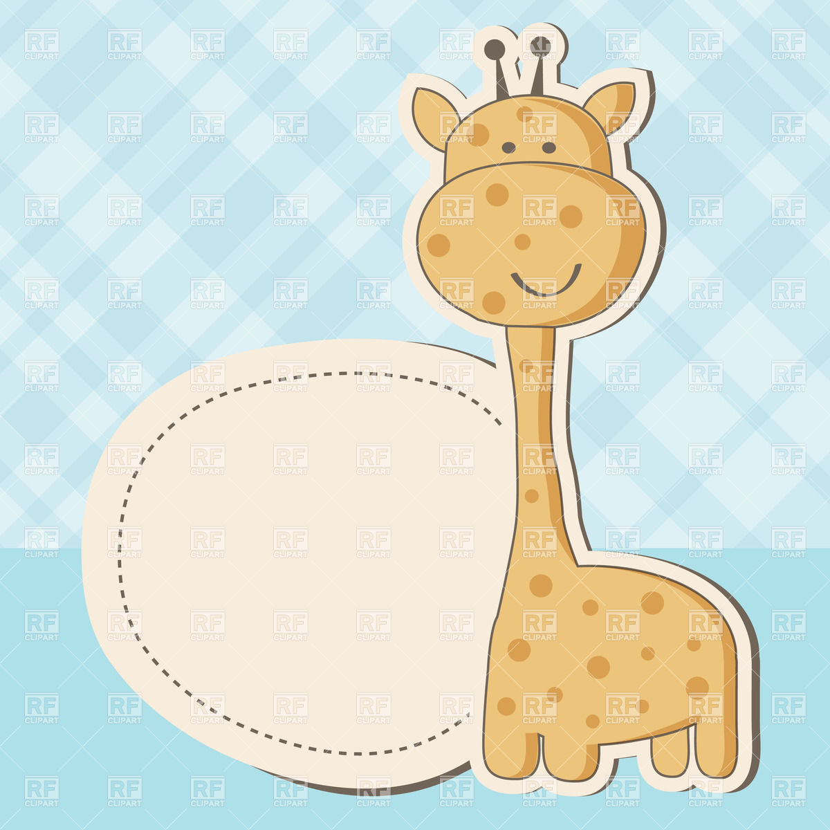 1200x1200 Cute Giraffe And Round Lable For Text. Vintage Baby Boy Arrival