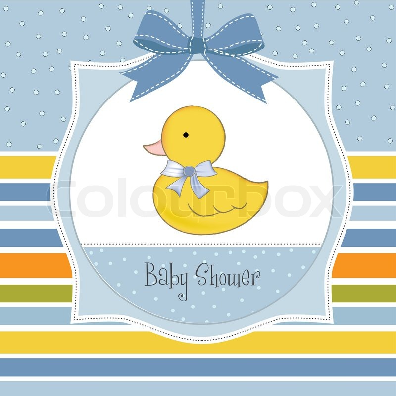 800x800 Baby Shower Invitation With Duck Stock Vector Colourbox