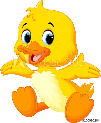 410x500 Cute Baby Duck Lifted Its Wings