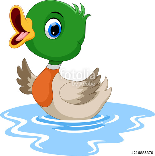 497x500 Cute Baby Duck Waving Cartoon Stock Image And Royalty Free Vector