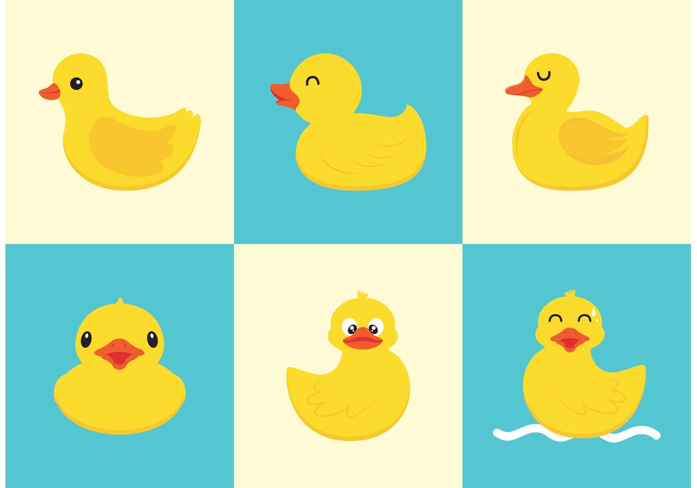 1400x980 Rubber Duck Vector Free