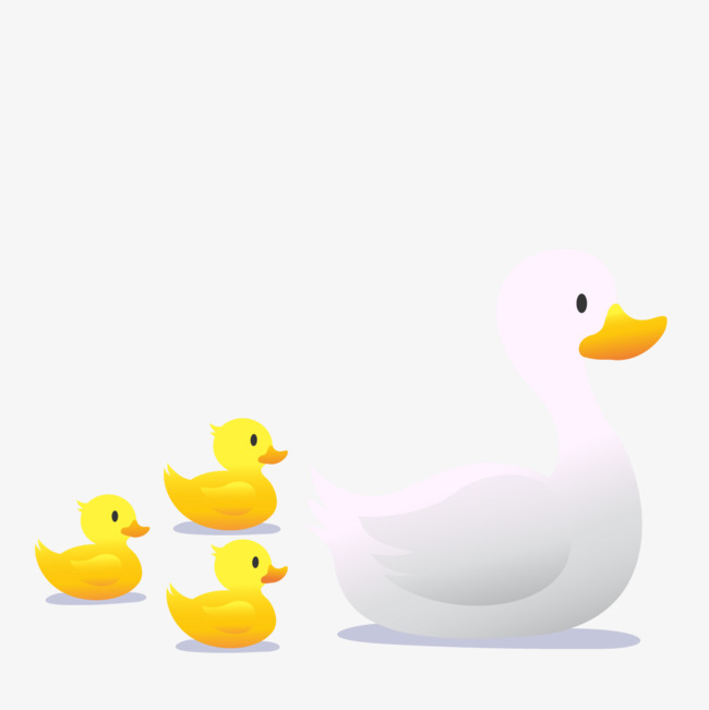 650x651 Vector Mother Duck, Baby Duck, Animal, Poultry Png And Vector For