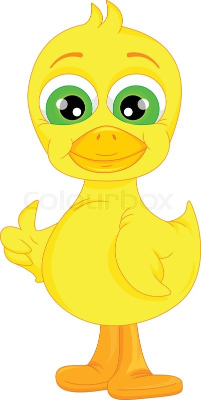 403x800 Vector Illustration Of Cute Baby Duck Cartoon Thumb Up Stock