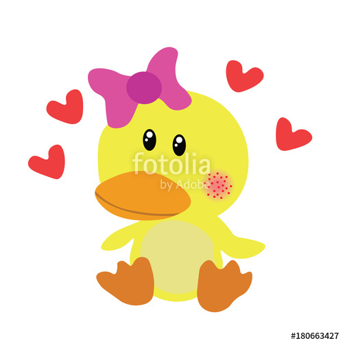 500x500 Cute Baby Doll Duck Vector Illustration Stock Image And Royalty