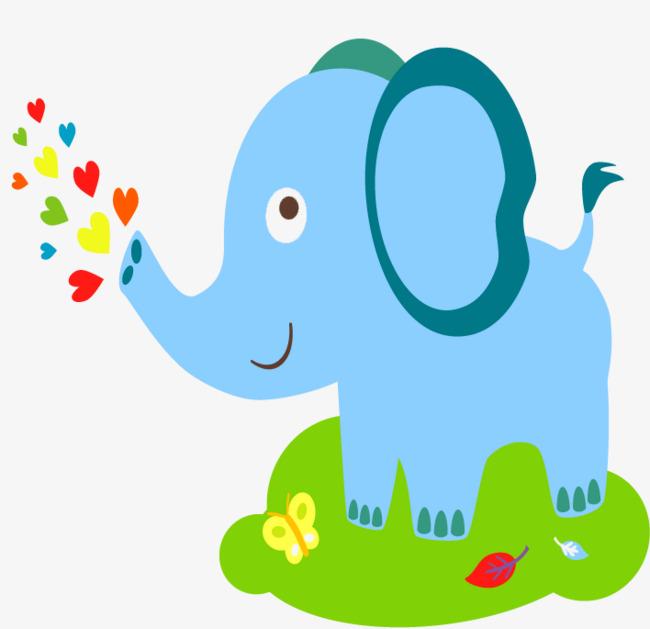 650x629 Hand Painted Baby Elephant, Baby Vector, Elephant Vector, Baby