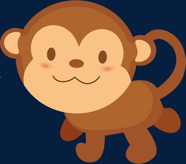 650x574 Cartoon Monkey Baby Monkey Play Hd Picture, Cartoon Vector, Monkey