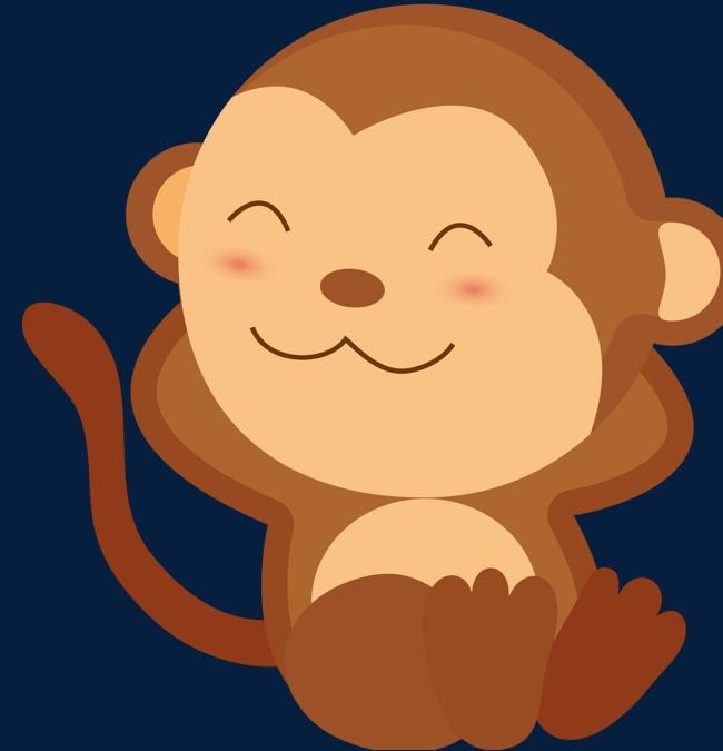 650x675 Cartoon Monkey Baby Monkey Sleep Hd Picture, Cartoon Vector