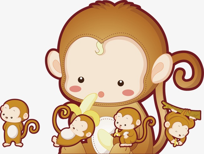 650x493 Monkey Mother And Baby Monkey, Baby Clipart, Monkey Clipart