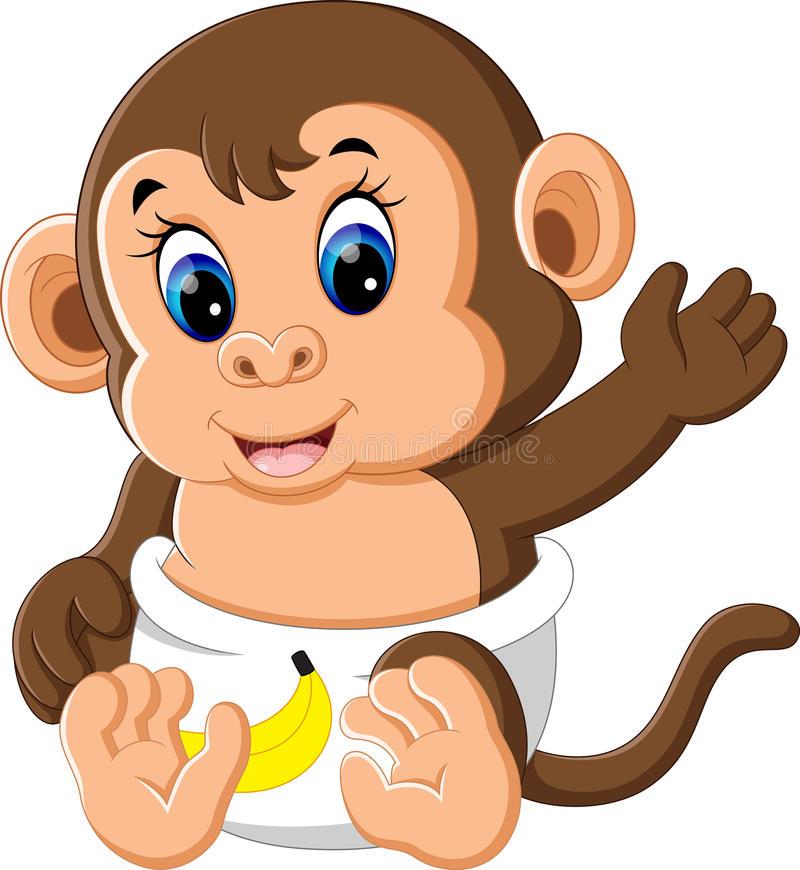 800x870 Cartoon Baby Monkey Cute Ba Monkey Cartoon Stock Vector
