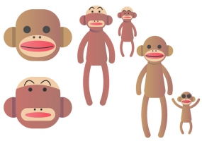 285x200 Baby Monkey Free Vector Graphic Art Free Download (Found 2,230