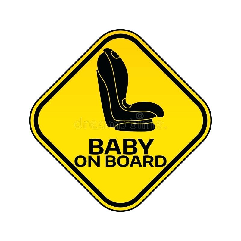 800x800 Baby On Board Car Sign Baby On Board Sign With Child Car Seat In