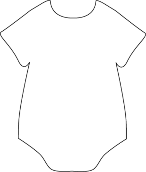 511x600 Onesie Black White Free Images At Clker Vector Clip Art