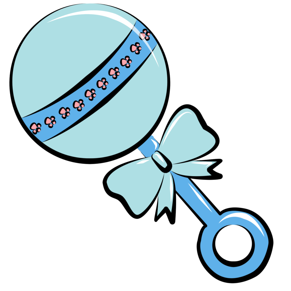 1024x1024 Black Baby And Rattle Blue And Gold Crown Clip Art Transparent