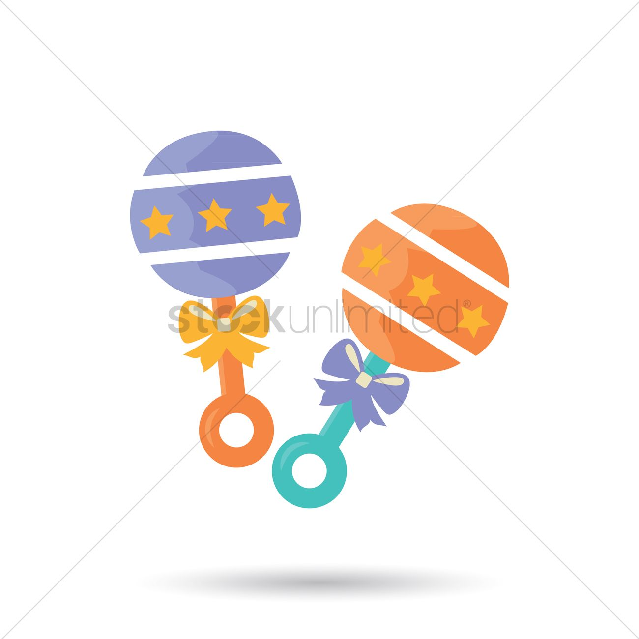 1300x1300 Free Baby Rattle Vector Image
