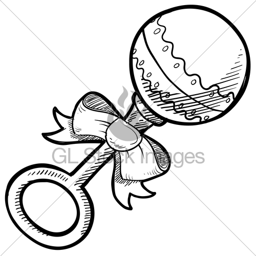 500x500 Baby Rattle Sketch Gl Stock Images
