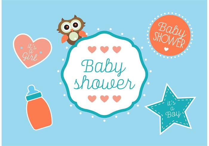 700x490 Baby Shower Vectors