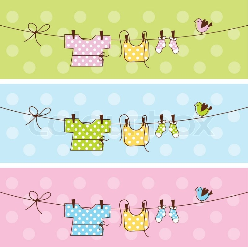 800x799 Baby Shower Banners Stock Vector Colourbox