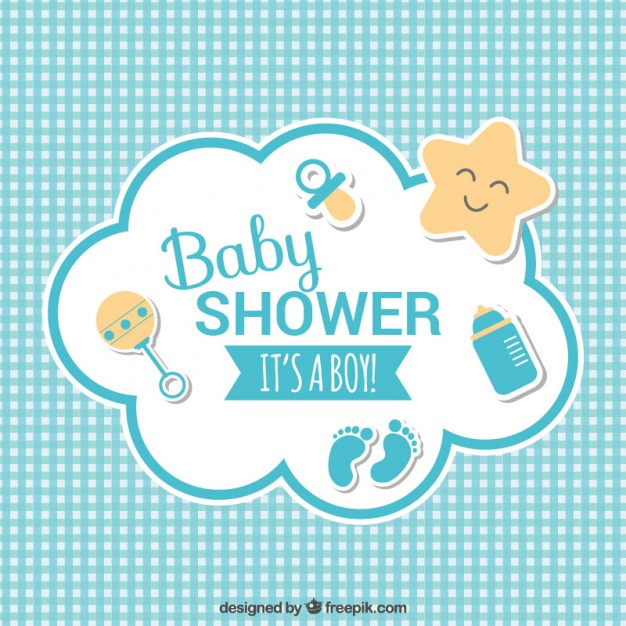 626x626 Baby Shower Card Vector Free Download