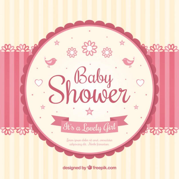 626x626 Baby Shower Card With A Mobile Vector Free Download