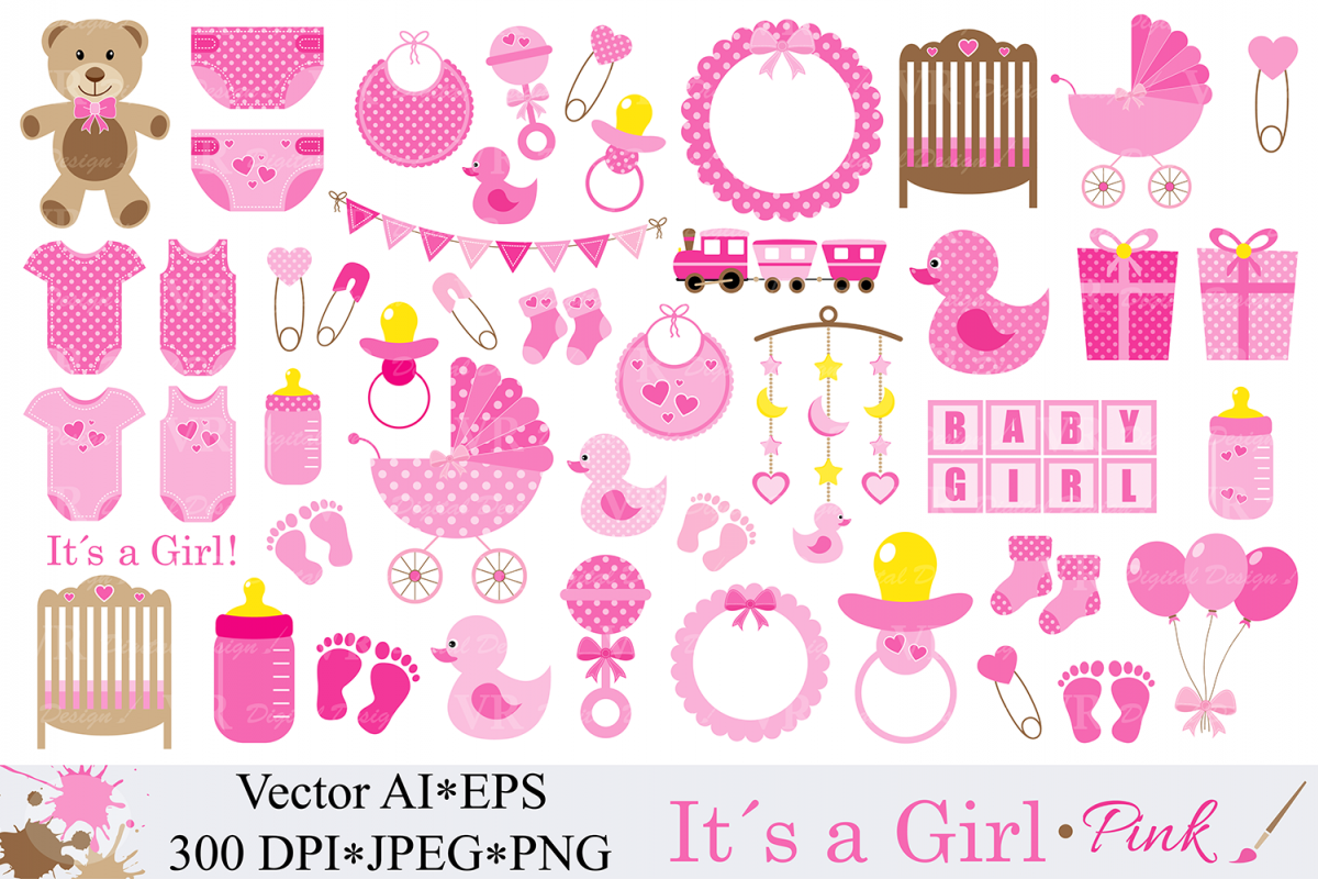 1200x800 Baby Girl Clipart Pink Baby Shower Clipart Nursery Clip Art