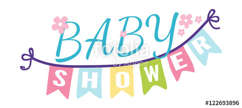 500x224 Baby Shower Invitation Vector Card Stock Image And Royalty Free