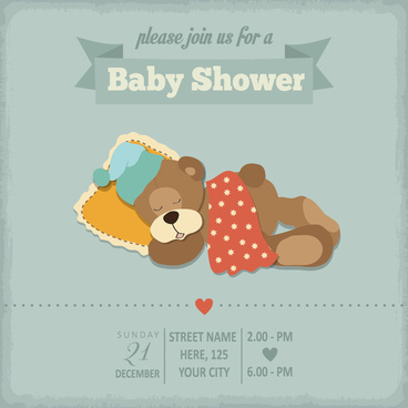 368x368 Baby Shower Invitation Cards Free Vector Download (13,807 Free