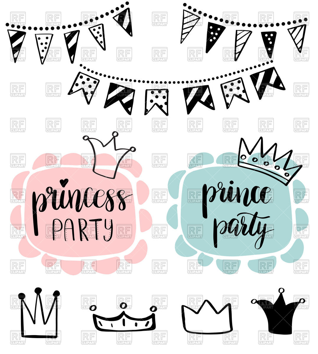 1077x1200 Princess Or Prince Party Baby Shower Card Design. Birthday Girl