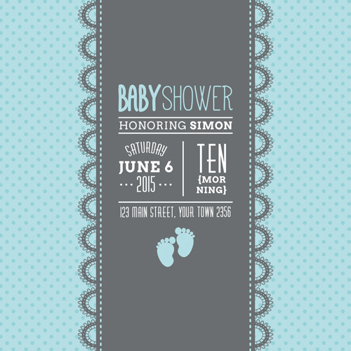 500x500 Retro Baby Shower Cards Vector Free Vector In Encapsulated