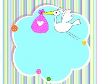 336x280 Vector Baby Shower Card With Copy Space Vector Art