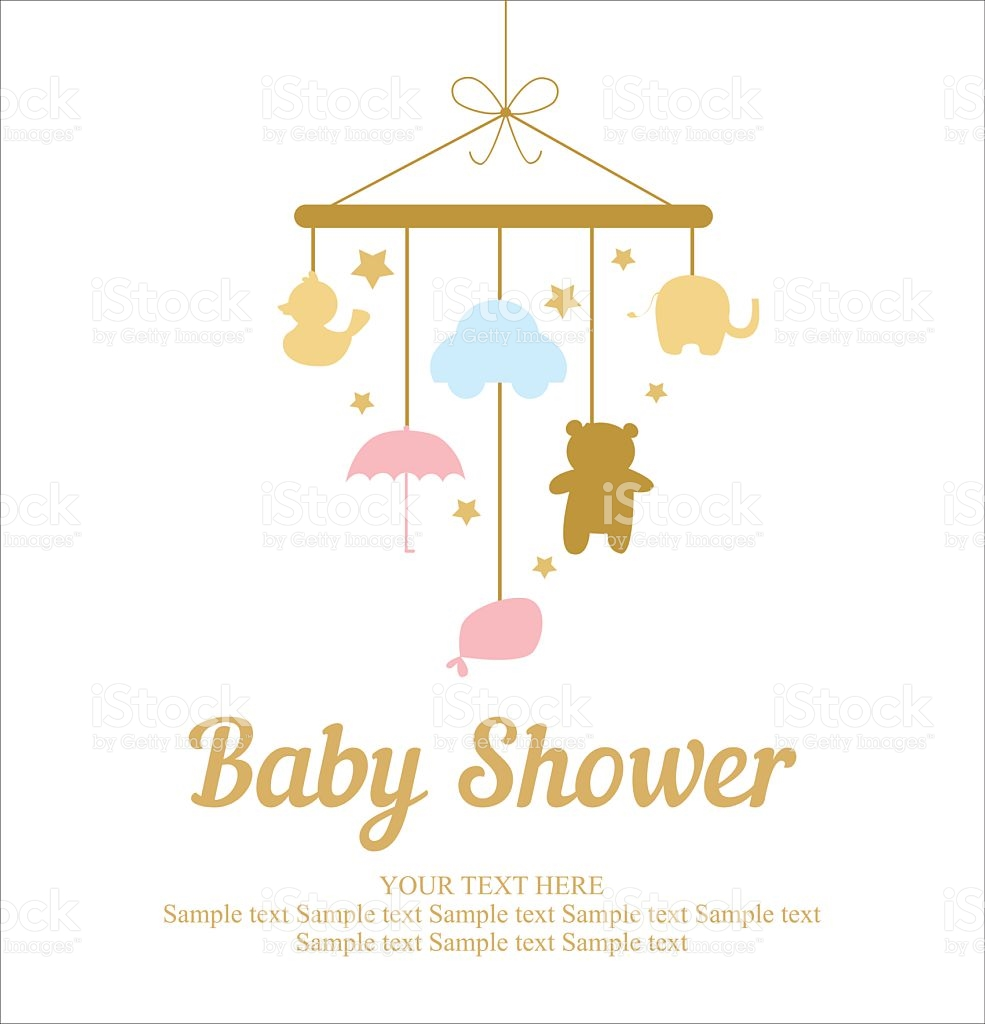 985x1024 Baby Shower Card Luxury Baby Shower Card Stock Vector Art Of Baby