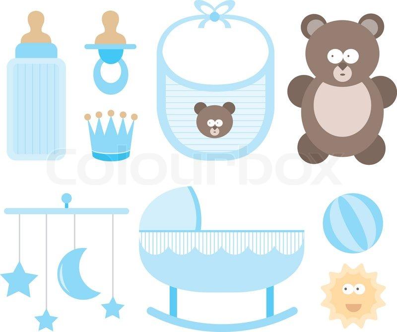 800x669 Baby Icon Set Child Stuff Stock Vector Colourbox