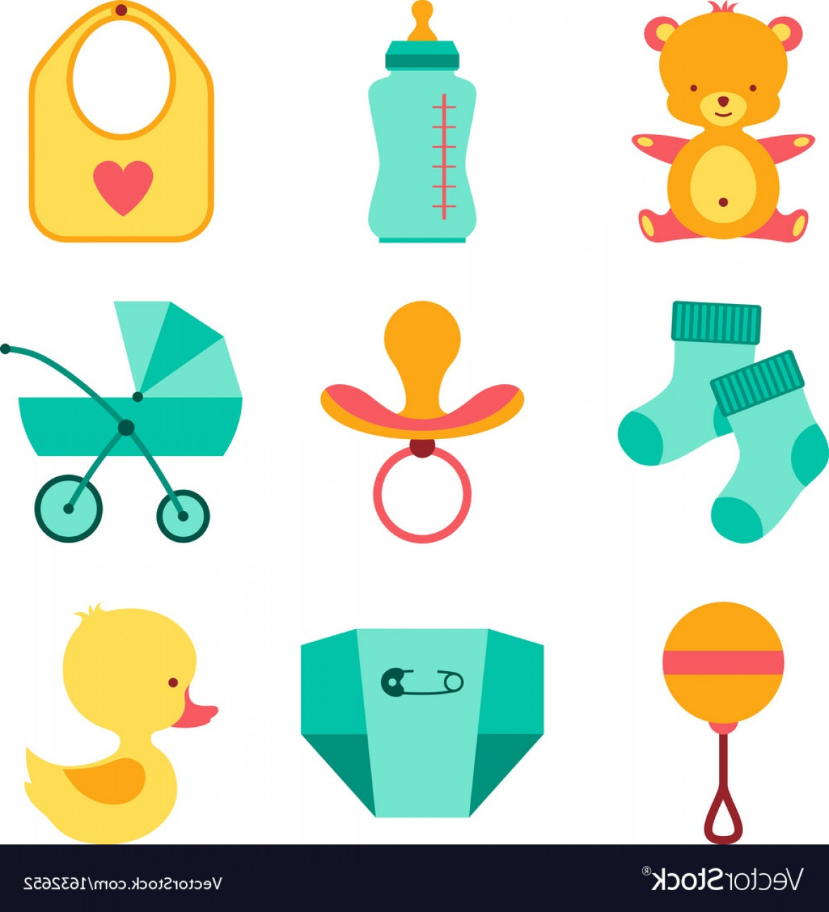 0dd24e83e Baby Stuff Vector at GetDrawings.com | Free for personal use Baby ...